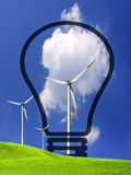 Wind energy. Industrial ecology concept Stock Image