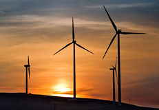 Wind energy. For a clean environment stock photography