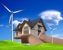 Wind energy. For your house Stock Photo
