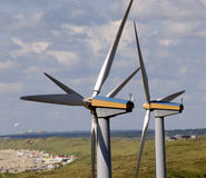 Wind Energy. Two Wind Turbines in Holland Stock Photography