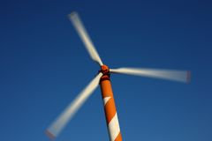 Wind Energy. Wind turbine making green electricity Royalty Free Stock Images