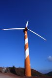 Wind Energy. Wind turbine making green electricity Stock Images