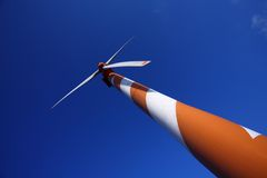 Wind Energy. Wind turbine making green electricity Royalty Free Stock Photos