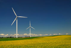 Wind energy. Clean energy from the wind farms of the midwest Royalty Free Stock Photography