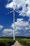 Wind Energy. Wind Mill Energy Close Up Royalty Free Stock Photos