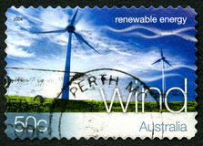 Wind Energy Australian Postage Stamp Royalty Free Stock Images