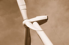 Wind Energy Blades 2. New Wind Energy Blades on Tower in Central Valley, CA Royalty Free Stock Photos