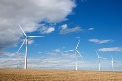 Wind energy concept Royalty Free Stock Photography