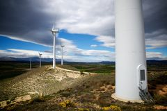 Wind energy concept Royalty Free Stock Photos