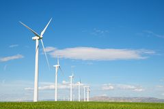 Wind energy concept Stock Images
