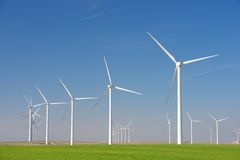 Wind energy concept Royalty Free Stock Image
