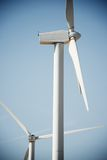 Wind energy concept. Windmills for electric power production, Zaragoza Province, Aragon, Spain Stock Photos