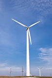 Wind energy converters Stock Photo