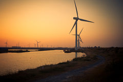 Wind energy. Is due to the air flow to do work for human one kind of available energy, belong to the renewable energy (including hydro, biomass, etc royalty free stock photo