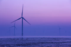 Wind energy. Is due to air flow to do work for human one kind of available energy, belong to the renewable energy (including hydro, biomass, etc royalty free stock photography
