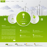Wind Energy Eco Website Template Royalty Free Stock Photography