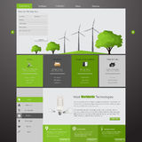 Wind Energy Eco Website Template Royalty Free Stock Photo