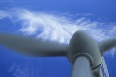 Wind Energy Generator Stock Photo