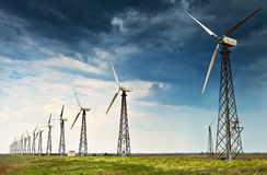 Wind energy generator station Stock Image