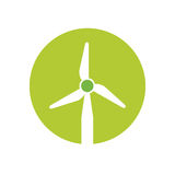 Wind energy green alternative. Vector illustration design Royalty Free Stock Photo