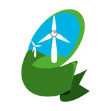 Wind energy green alternative. Vector illustration design Royalty Free Stock Image