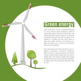 Wind energy. Green energy. Renewable energy. Vector illustration Royalty Free Stock Photo