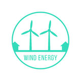 Wind energy green logotype Royalty Free Stock Image