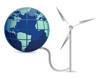 Wind Energy illustration concept design Stock Photo
