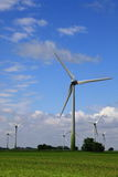 Wind energy on meadow field Royalty Free Stock Photos