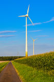 Wind energy mill Royalty Free Stock Image