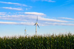 Wind energy mill Royalty Free Stock Images
