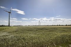 Wind energy mills Royalty Free Stock Photos