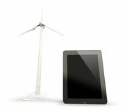 Wind energy and network Stock Photography