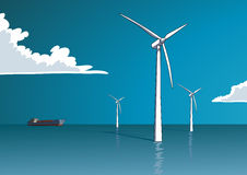 Wind energy, offshore Stock Image