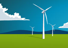 Wind energy, onshore Royalty Free Stock Images