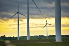 Wind Energy Overlook Royalty Free Stock Images