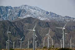 Wind energy, Palm Springs, California Royalty Free Stock Photos