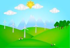 Wind energy plant Royalty Free Stock Photo