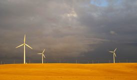 Wind energy plant Royalty Free Stock Photography