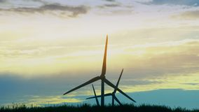 Wind energy power turbine. Clean and renewable electricity energy resources. Wind energy plant power turbine. Clean and renewable electricity energy resources stock video
