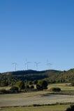Wind energy - power station stock image