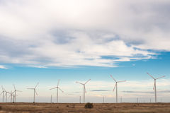 Wind energy. Wind power to produce electricity. Preserve the environment. Green energy sources in Lithuania Stock Photos