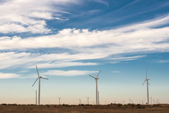 Wind energy. Wind power to produce electricity. Preserve the environment. Green energy sources in Lithuania Stock Photo