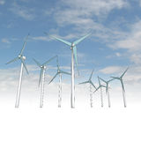 Wind energy powerful concept with sky Stock Photos
