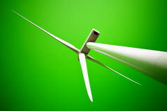 Wind energy turbine power station Stock Photo