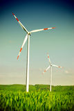 Wind energy turbine power station Royalty Free Stock Photos