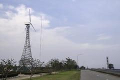 Wind energy turbine. Power station Stock Images