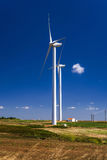 Wind energy turbine power station Stock Photos