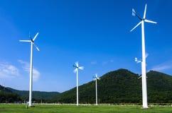 Wind energy turbines. Royalty Free Stock Image