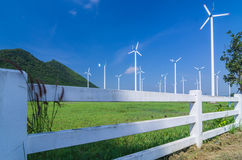 Wind energy turbines. Stock Images